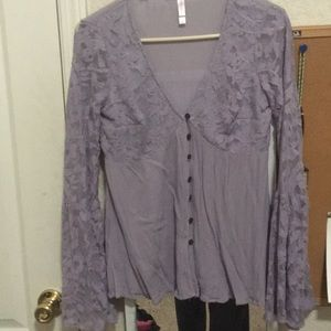 Lacey bell sleeved blouse